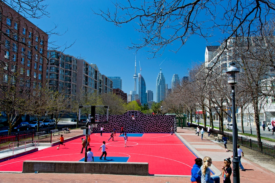 basketball court - David Crombie park