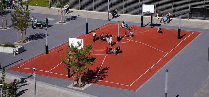 3D basketball court - Munich