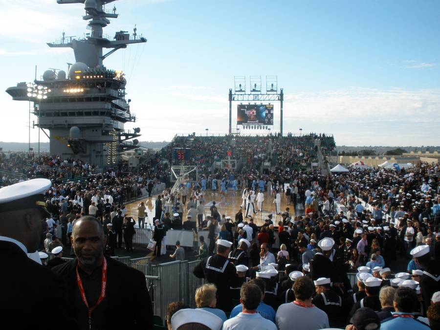 US navy basketball court